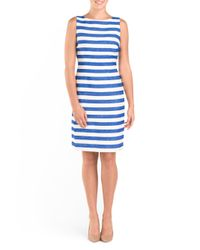 Tj Maxx - Blue Sleeveless Stripe Midi Dress - Lyst
