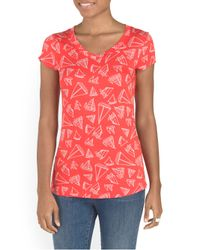 Tj Maxx - Red Sailboat Printed Tee - Lyst