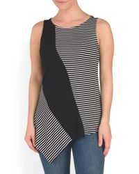 Tj Maxx - Black Boat Neck Sleeveless Top - Lyst