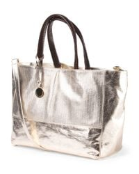 Tj Maxx - Multicolor Made In Italy Leather Metallic East West Tote - Lyst