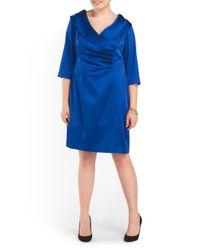 Tj Maxx - Blue Plus Shawl Collar Dress - Lyst