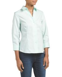 Tj Maxx - Green Three Quarter Sleeve Shirt - Lyst