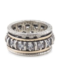 Tj Maxx - Metallic Made In Israel Sterling Silver And 14k Gold Spinning Ring - Lyst