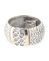 Tj Maxx - Metallic Made In Israel Sterling Silver And 14k Gold Cubic Zirconia Ring - Lyst