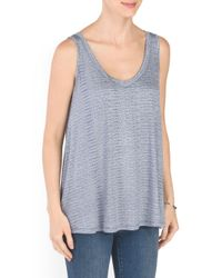 Tj Maxx - Blue Dot Stripe Swing Tank - Lyst