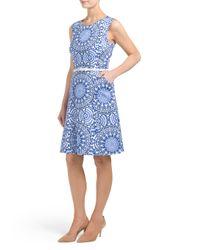 Tj Maxx - Blue Medallion Print Dress - Lyst