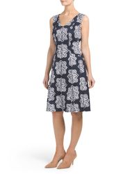 Tj Maxx - White Medallion Fit And Flare Dress - Lyst