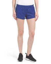 Tj Maxx - Blue Clear Foil Woven Short - Lyst