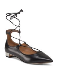 Tj Maxx - Black Made In Italy Leather Pointy Toe Lace Up Heel - Lyst