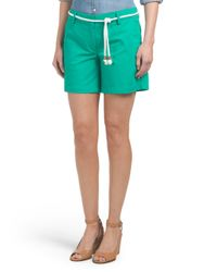 Tj Maxx - Green Solid Short With Rope Belt - Lyst