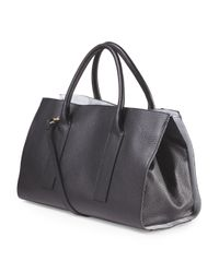 Tj Maxx - Black Made In Italy Leather Travel Tote - Lyst