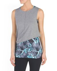 Tj Maxx - Gray Two In One Tank - Lyst