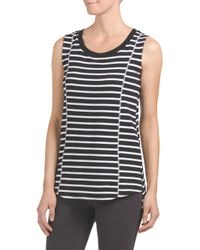 Tj Maxx - Black Loose Tank With Seam Detail - Lyst