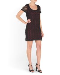 Tj Maxx - Black Usa Hope Short Sleeve Lace Dress - Lyst