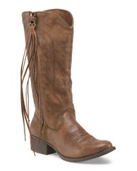 Tj Maxx - Brown Durant High Shaft Zip Up Boot - Lyst