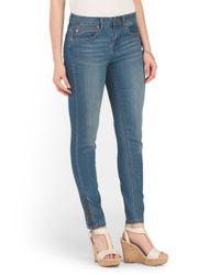 Tj Maxx - Blue Skinny Jean With Ankle Zipper - Lyst