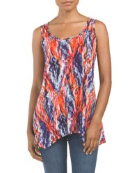 Tj Maxx - Red Tank With Handkerchief Hem - Lyst