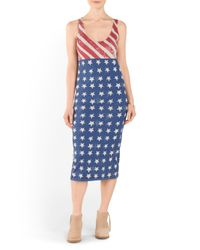 Tj Maxx - Blue Stars And Stripes Midi Dress - Lyst
