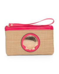 Tj Maxx - Pink Straw Wristlet With Shell Detail - Lyst