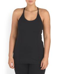 Tj Maxx - Black Plus Made In Usa Active Blossom Tank - Lyst