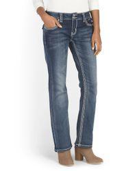 Tj Maxx - Blue Short Embroidered Slim Boot Jean - Lyst