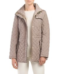 Tj Maxx - Brown Quilted Anorak Jacket - Lyst