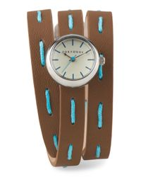 Tj Maxx - Blue Women's Frida Italian Leather Wrap Watch - Lyst