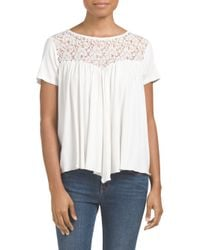 Tj Maxx - White Made In Usa Knit Top With Lace - Lyst