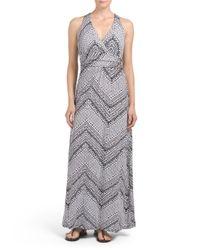 Tj Maxx - Multicolor V Neck Twist Back Maxi Dress - Lyst
