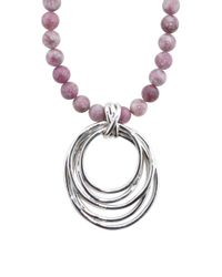 Tj Maxx - Purple Made In Israel Sterling Silver Lepidolite Circle Necklace - Lyst