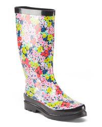 Tj Maxx - Multicolor Floral High Shaft Rain Boot - Lyst