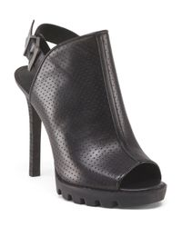 Tj Maxx - Black Leather Eve Heel - Lyst