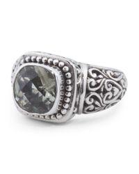 Tj Maxx - Metallic Made In Bali Sterling Silver Green Amethyst Cushion Cut Ring - Lyst