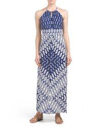 Tj Maxx - Blue Diamond Ikat Printed Maxi Dress - Lyst