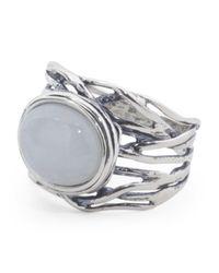 Tj Maxx - Metallic Made In Israel Sterling Silver Stripey Stone Ring - Lyst
