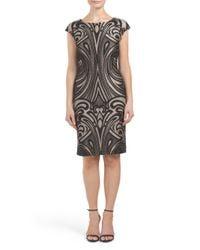 Tj Maxx - Black Textured Cap Sleeve Dress - Lyst