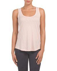 Tj Maxx - Multicolor Pima Cotton Shirt Tail Hem Tank - Lyst