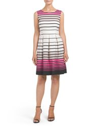 Tj Maxx - Multicolor Printed Fit And Flare Dress - Lyst