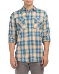 Tj Maxx - Blue Long Sleeve Beach Shack Twill Shirt for Men - Lyst
