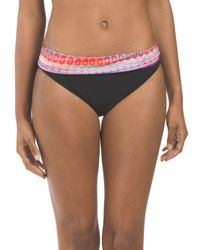 Tj Maxx - Black Banded Printed Bottom - Lyst