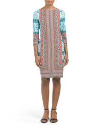 Tj Maxx - Blue Printed Sheath Dress - Lyst