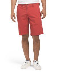 Tj Maxx - Red Flat Front Twill Short for Men - Lyst