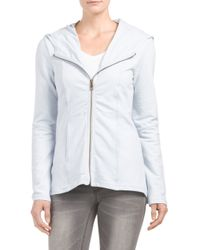 Tj Maxx - Blue Zip Front French Terry Jacket - Lyst