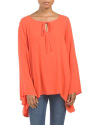 Tj Maxx - Orange Embroidered Top - Lyst
