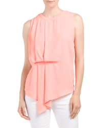 Tj Maxx - Pink Side Gathered Blouse - Lyst