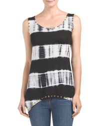 Tj Maxx - Black Stud And Tie Dye Tank - Lyst
