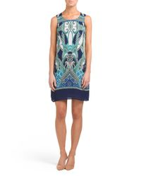 Tj Maxx - Blue Vibrant Paisley Printed Shift Dress - Lyst