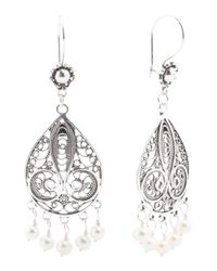 Tj Maxx - Metallic Handcrafted In Turkey Sterling Silver Pearl Earrings - Lyst