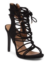 Tj Maxx - Black Ankle Lace Up Heel - Lyst