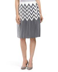 Tj Maxx - Multicolor Printed Crepe Skirt - Lyst
